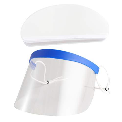 Lurrose Couverture de Visage Transparent Visage Protecteur Visière Accessoires de Coupe de Cheveux pour Salon de Coiffure 50 Pcs
