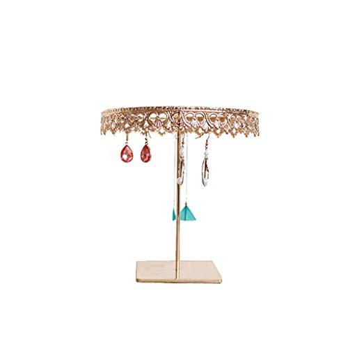 Estante de la joyería Joyería soporte de exhibición - princesa forma de corona exhibición de la joyería del estante organizador retro encimera Pendientes Collares colgantes sostenedor del soporte de a