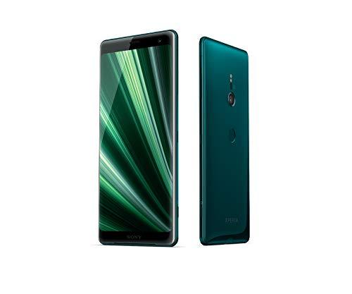 """Sony Xperia XZ3 Smartphone (écran 6"""") OLED Dual SIM 64 Go de mémoire Interne et 4 Go de RAM, Technologie BRAVIA TV, IP68, Android 9.0 Forest Green"""