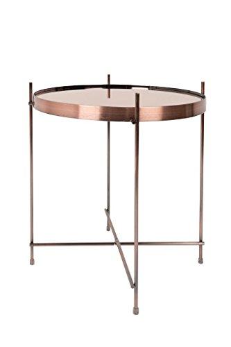 Zuiver Cupid Beistelltisch Copper, Kupfer, 43x43x45 cm