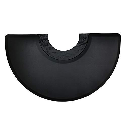 Sharplace Nero Semi Cerchio 5'x3'1/2 'Barber Salon Anti-Fatica Tappetino Comfort Tappetino
