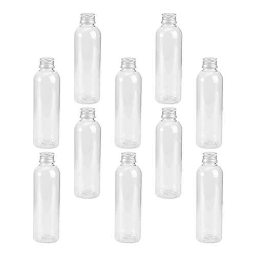 HEALLILY 22Pcs Portable Sealed Bottle with Screw Aluminum Cap Clear Tiny Empty Sample Vials Glass Jars Containers Cute Wishes Bottle 80ml