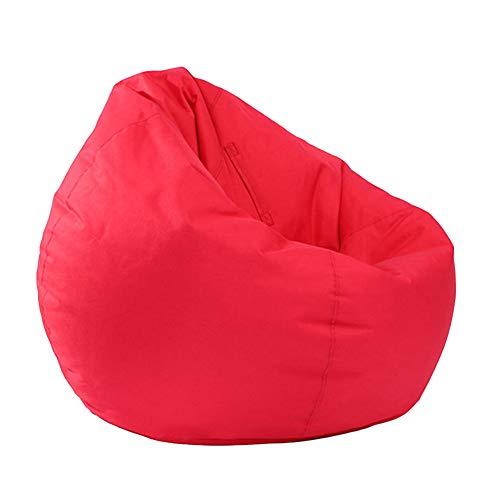 homchen Kinder & Erwachsene Spielzeug Aufbewahrung Sitzsack Gaming Sitzsack Schonbezug Wasserdicht Innen- und Außenreißverschluss Sitzsack Stuhlbezug (Red, OneSize)