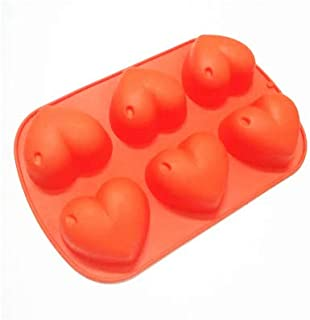1 piece Big Heart Shape Silicone Mold Soap Forms Cake Decorating Tools Moule Silicone Patisserie 3D