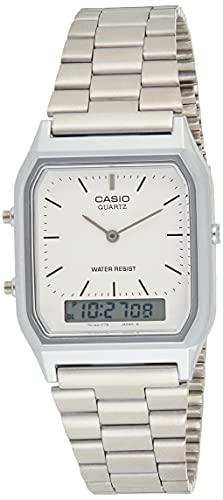 Casio Collection AQ-230A-7BMQYES, Reloj Analógico-Digital para Hombre, Gris
