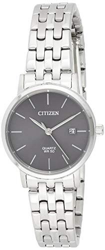 CITIZEN Reloj Análogo para Señoras de Cuarzo con Correa en Acero Inoxidable EU6090-54A