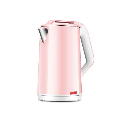 Bouilloires Bouilloire électrique Extinction automatique grande capacité 24 heures d'isolation Isolation 1500W Intégré en acier inoxydable 2L noir (Couleur : Pink)