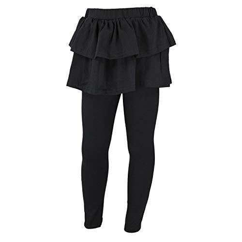 TupTam Mädchen Leggings mit Rock, Farbe: Schwarz, Größe: 116