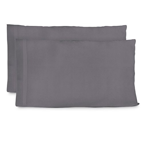 Cosy House Collection Luxury Bamboo King Size Pillow Cases - Grey Pillowcase Set of 2 - Ultra Soft & Cool Hypoallergenic Natural Bamboo Blend Cover - Resists Stains, Wrinkles, Dust Mites