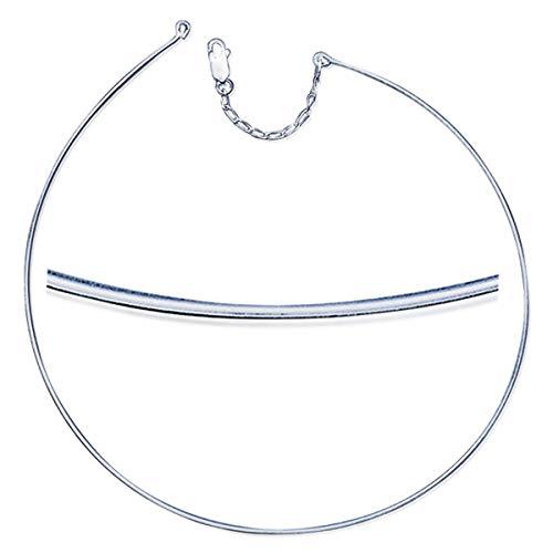 Les Trésors De Lily [M7287] - Silber halskette 'Omega' - 45 cm 1 mm (glatt).