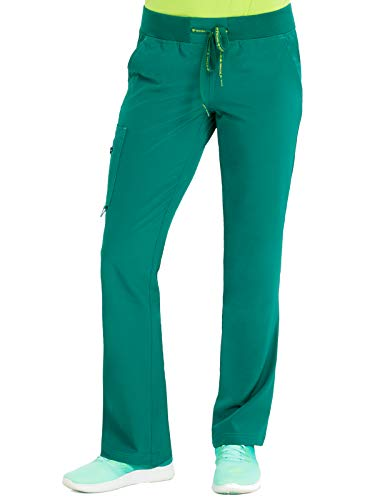 Med Couture Women's Activate Yoga Cargo Pocket Scrub Pant, Hunter, X-Large