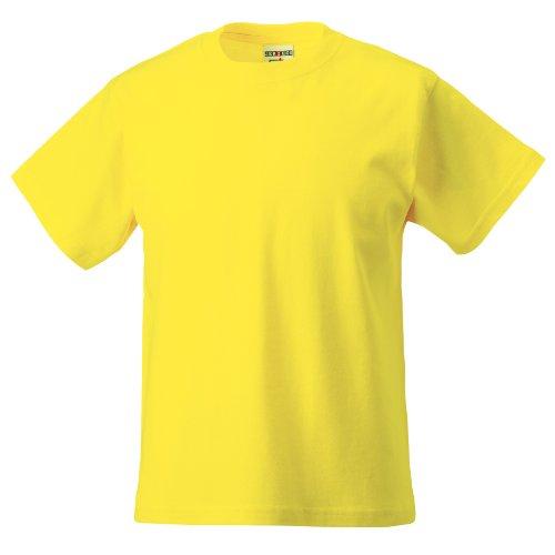 Jerzees Schoolgear Childrens Classic Plain T-Shirt (7-8) (Yellow)