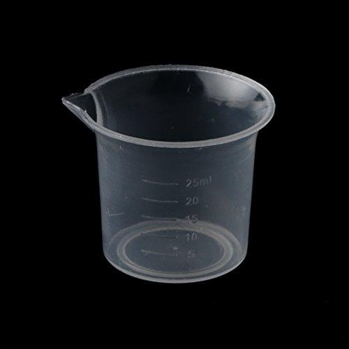 Milageto Laboratorio de Plástico Transparente de 5 Piezas 25 Ml