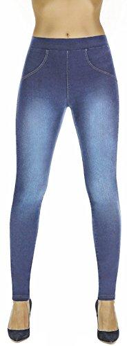 Firstclass Trendstore Shapeleggings in Jeans-Optik Gr. S-XXL, formend modellierend schlankmachend (Maddie hellblau XL)
