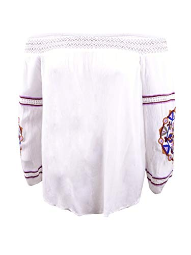 INC Womens Plus Off The Shoulder Embroidered Blouse White 3X