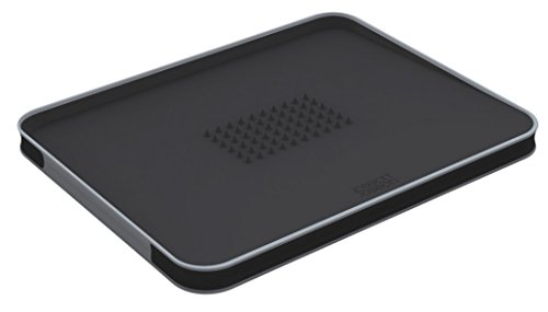 Joseph Joseph Cut and Carve Plus Chopping Board - Large, Black
