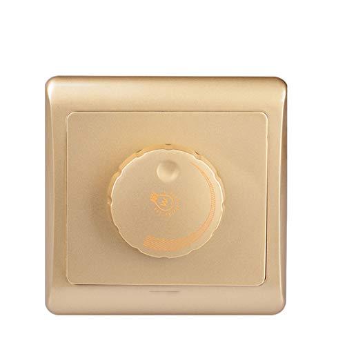 86 Tipo de regulador de intensidad de luz Panel de pared 220V Alta potencia 450W Interruptor continuo Atenuador Lámpara incandescente champagne gold