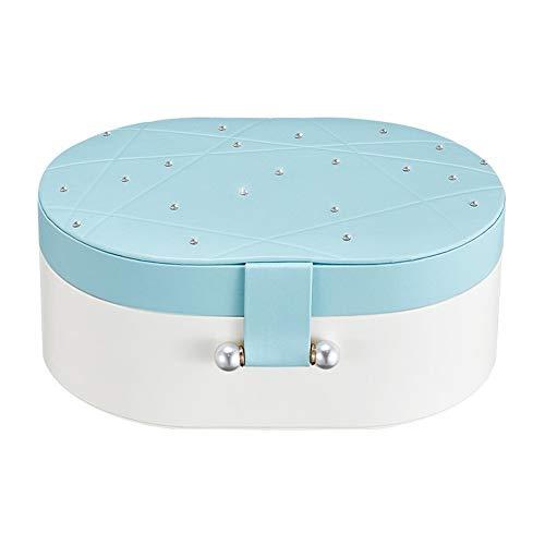 Ear Stud Storage Box Large Space Europe and South Korea Jewelry Storage Hand Ear Jewelry Box (Blue)