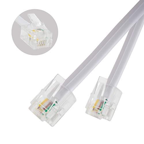 iChoose® RJ11 naar RJ11 stekker, voor breedbandkabel van BT ADSL modem router lood / premium kwaliteit / hoge bandsnelheid breedband-internet / router of modem voor het aansluiten van RJ11 telefoon of microfilter / 20M