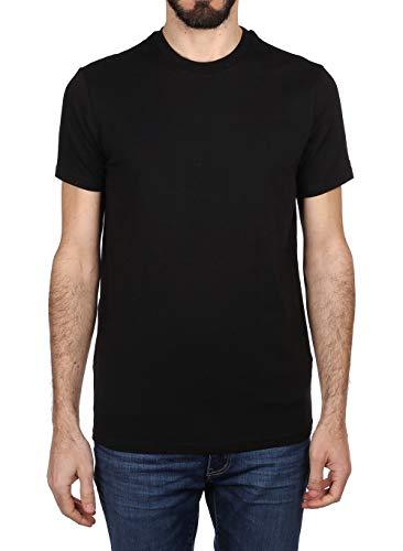 DSQUARED2 Camiseta de cuello redondo para hombre, 2 unidades Negro XL