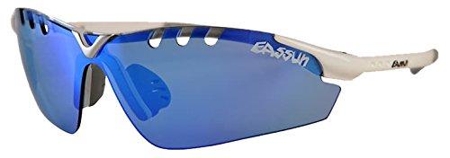 EASSUN X-Light Sport Gafas De Sol, Unisex, Blanco/Azul, M