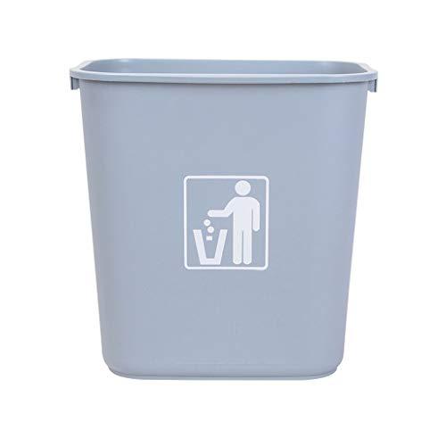 xiaodou Papeleras 32L Que Espesa la Oficina de Restaurante Comercial del Bote de Basura de la Cocina del hogar de la Capacidad Grande sin el Bote de Basura plástico de la Cubierta Bote de Basura