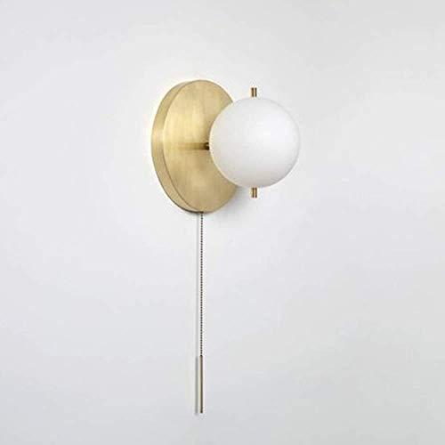 YONGYONGCHONG Semaforo - Lámpara de pared luminosa de cobre con personalidad, para salón, dormitorio, pasillo, modelo 15 23 cm