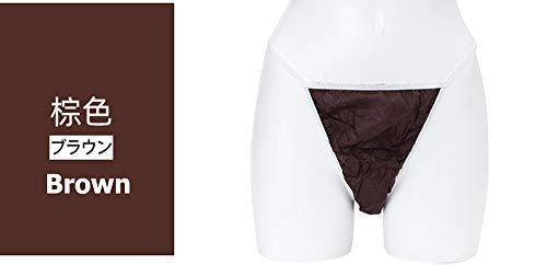 Wegwerp T-broek Thong Schoonheidssalon Sauna Dames Wegwerpondergoed 50 stuks per set Elitzia ETC033 (bruin L)