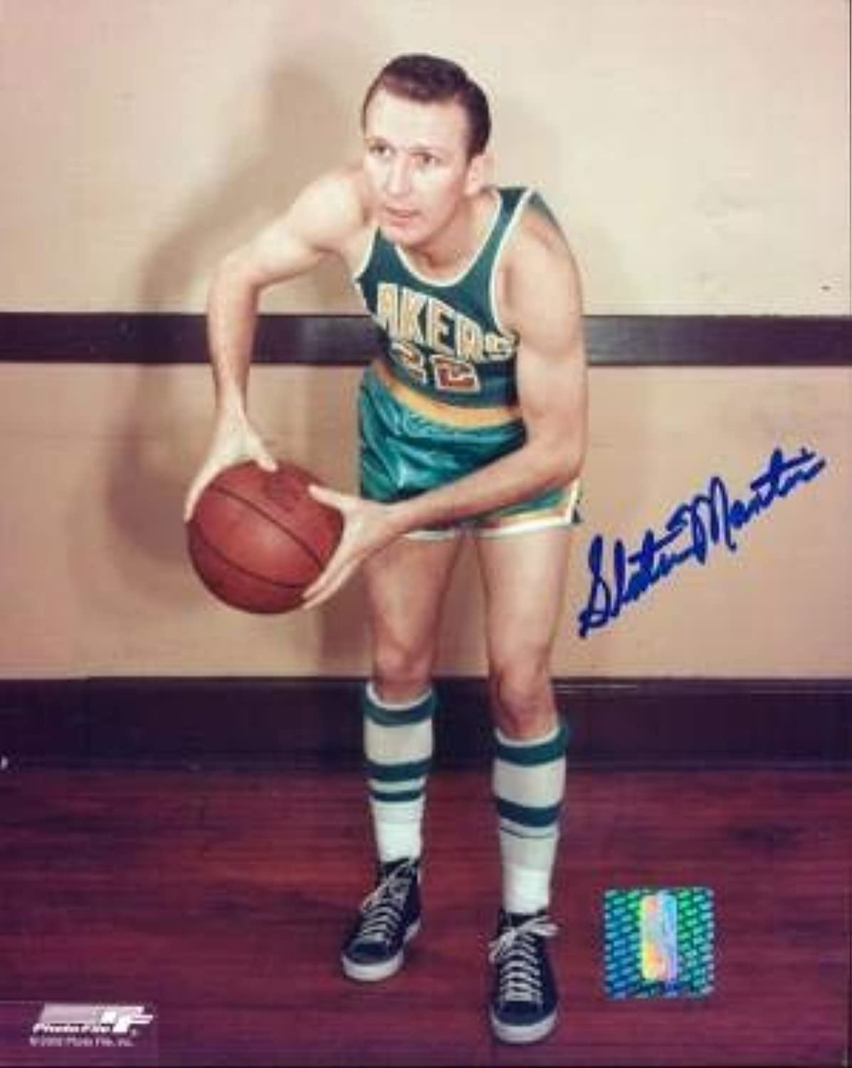 Autographed Slater Martin Photo  8x10  Autographed NBA Photos