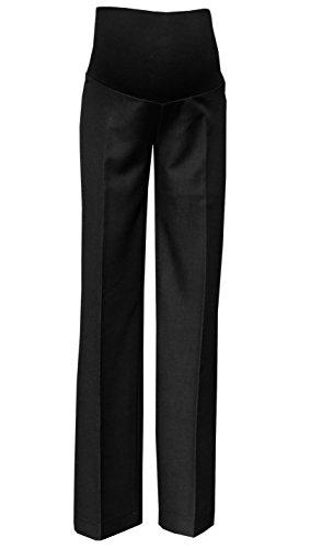 Mija – Pantalones de maternidad clásicos elegantes formales a medida Sobre la barriga 1011A (EU 40 / Entrepierna 85cm, Negro antracita)