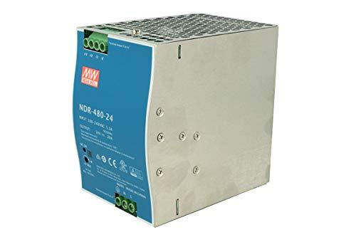 MeanWell NDR-480-24Trasformatore Rotaia Industriale 24V 480W 20A Barra Guida DIN Rail Power Supply Universale