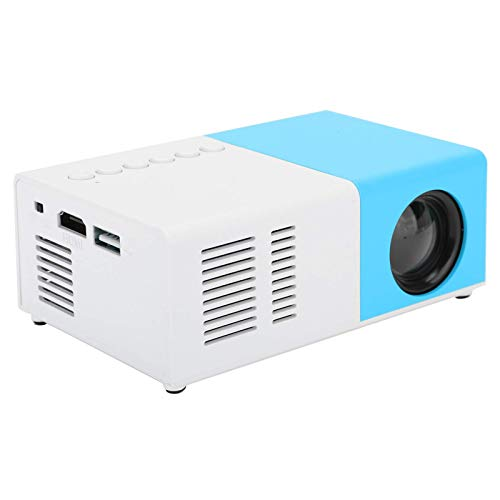 Mini Portable Projector, Full HD 1080P LED Home Theater Video Media Player Projector with Rack, Hi‑FI Stereo Best Gift for Kids(Blue)