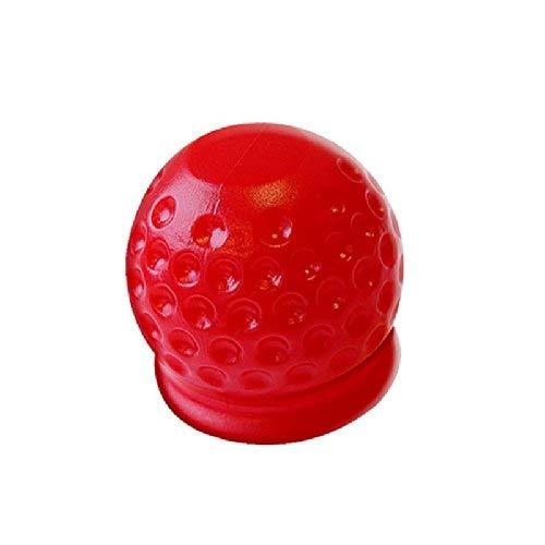 Abdeckung für Anhängerkupplung Golfball rot