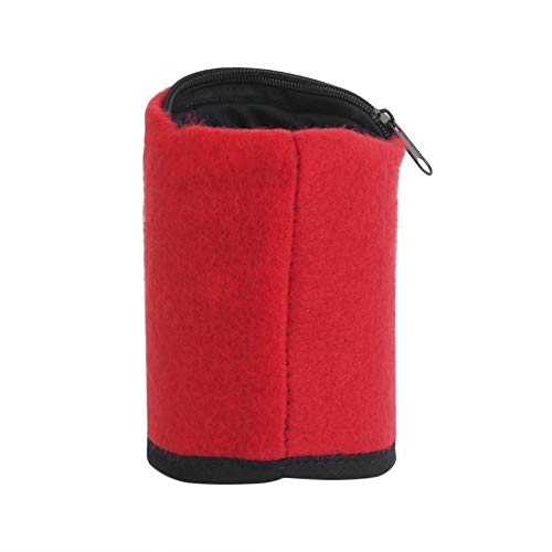 Cloverclover Multifunctionele Fleece Outdoor Gym Fietsen Wandelen Pols Portemonnee Met Rits/Rood