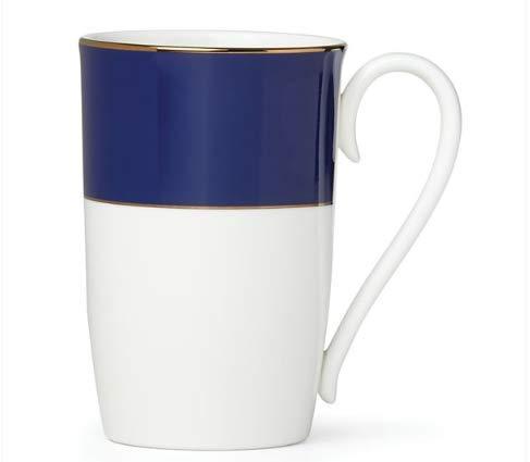 Lenox Pleated Colors Navy Mug, 0.4 LB, Blue