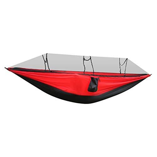 Liudan Columpio Plegable Columpio al Aire Libre Hamaca Silla del Barco Anti-Mosquitos, Camping Hamaca con Mosquitera, Nylon Portable Doble Hamaca Columpio al Aire Libre (tamaño : M)