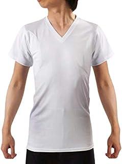 キュライン インナーシャツ わきあせ メンズ インナー 脇汗パッド付き Vネック半袖 メンズ下着 わき汗