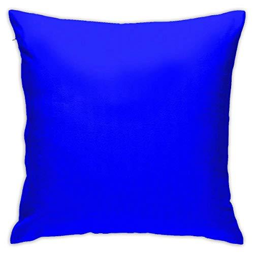 Funda de almohada decorativa para sofá de dormitorio o sofá, color azul eléctrico, 45,7 x 45,7 cm