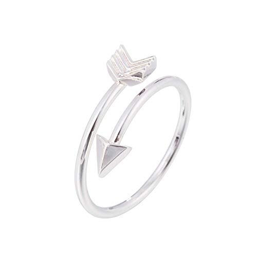JIekyoi Solid 925 Sterling Silver Ring for Women, Opening Adjustable Arrowhead Silver Thumb Ring, Unisex Resizable Celtic Knot Infinity Open Finger Rings, Silver Toe Rings for Women Mens Girls,Couple