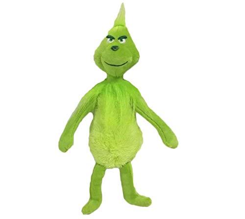 Weihnachten Grinch Plüsch Puppe Wohnkultur Sammeln 3D Hund Plüschtier Gefülltes Bett Puppen Kuschelkissen Cosplay Spielzeug Kissen Kinder Erwachsene Weihnachten Neujahr Geschenk (B, 32cm)