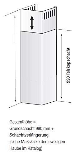 BEST Schachtverlängerung für Dunstabzugshauben (08841007) Zubehör/Edelstahl