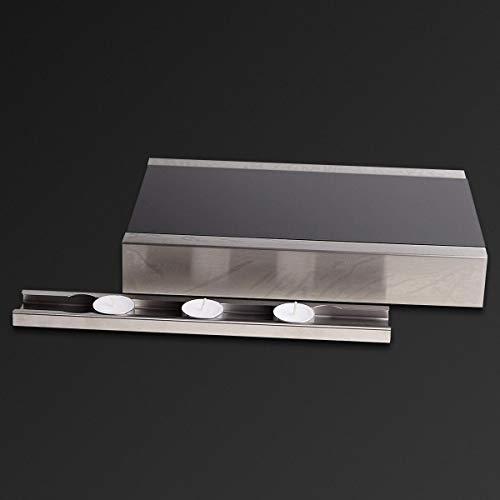 KOCH Metall Rechaud mit Auszug und 3 Teelichtern - Warmhalteplatte - Speisenwärmer - Tellerwärmer - Stövchen Edelstahl