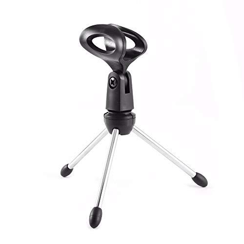 SEGIBUY desktop microfoonstandaard beweegbaar statief kleine Mic standplaatshouder met clip verstelbare microfoon clip
