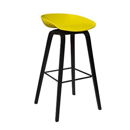 YUANP Silla De Bar Trona para Tienda De Té con Leche Sillón De Bar Creativo Taburetes De Bar De Cocina para El Hogar Taburete Sin Respaldo con Reposapiés