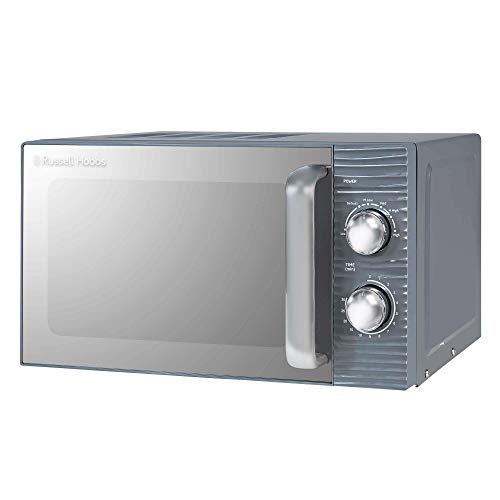 Russell Hobbs RHM1731G Inspire 17L 700w Grey Solo Manual Microwave with 5 Power Levels, Timer, Defrost Setting, Easy Clean
