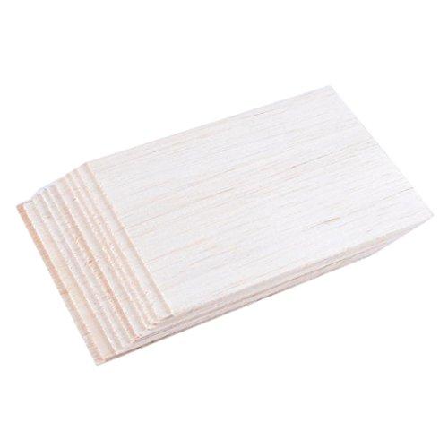 perfeclan 10 Piezas DIY Modelo balsa Hojas de Madera casa de Placa de Madera 150 mm x 100 mm x 2 mm
