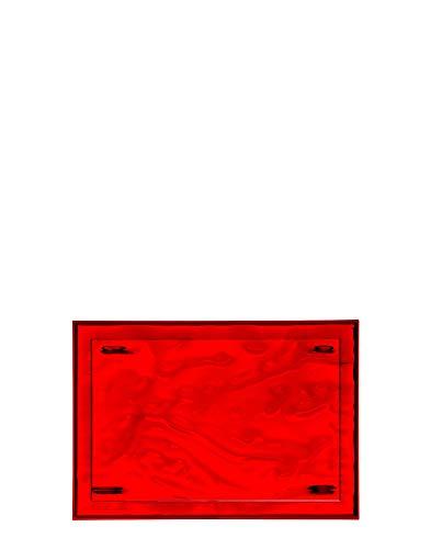 Kartell Plateau Dune Petit, Plastique, Rouge, 46 x 32 x 2.5 cm