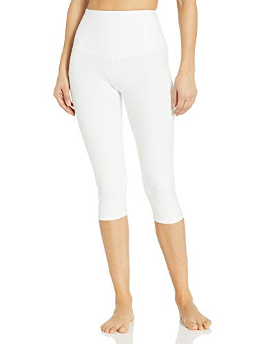 Yummie Women's Talia Capri Cotton Stretch Shapewear Legging, White, Small