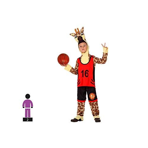 Cisne 2013, S.L. Disfraz de 2 Piezas para Carnaval Infantil niño o niña de Jirafa Baloncesto Talla 3-4 años de niño y niña. Cosplay Infantil Jirafa Carnaval.