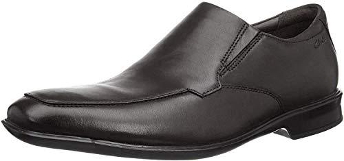 Clarks Herren Bensley Step 261476867 Slipper, Schwarz (Black Leather Black Leather), 43 EU